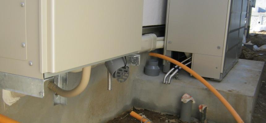 給湯器の施工状況
