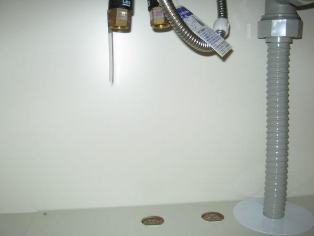 給水管の未接続